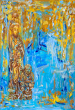 "Fairy and Immortal Boy : 28"" x 39"" - 70 x 100 cm by MK Anisko"