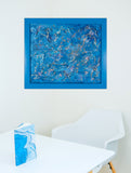 "Blue Supernova : 15"" x 18"" - 38 x 45 cm : FRAMED by Pamela Rys"