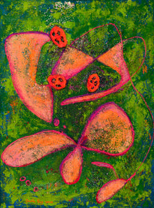 "Flowers from Mars : 31"" x 24"" - 80 x 60 cm by Pamela Rys"