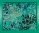 "Green Supernova : 15"" x 18"" - 38 x 46 cm : FRAMED by Pamela Rys"
