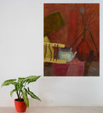 "Red Still Life : 35"" x 28"" - 90 x 70 cm - by Pamela Rys"