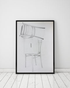 "Still Life with Chairs : 39"" x 28"" - 100 x 70 cm - by Pamela Rys"