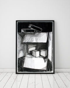 "Still Life with Boxes : 39"" x 28"" - 100 x 70 cm - by Pamela Rys"