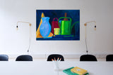 "Still Life with Candle : 20"" x 28"" - 50 x 70 cm by Pamela Rys"
