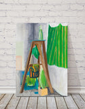 "Still Life with Green Siphon Bottle : 39"" x 28"" - 100 x 70 cm - by Pamela Rys"