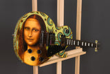 "Mona Lisa Guitar On Gibson Les Paul Studio : 13"" x 39"" - 33 x 100 cm by MK Anisko"