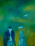 "The Conversation : 35"" x 27"" - 89 x 68 cm - by MK Anisko"