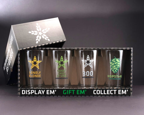 4pk Pint Glass Box Set