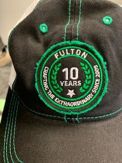Fulton Colors 10 year Baseball Hat