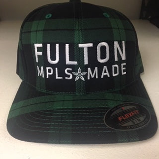 Green Plaid Baseball Hat