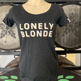 Women's Lonely Blonde Tee - Dark Grey