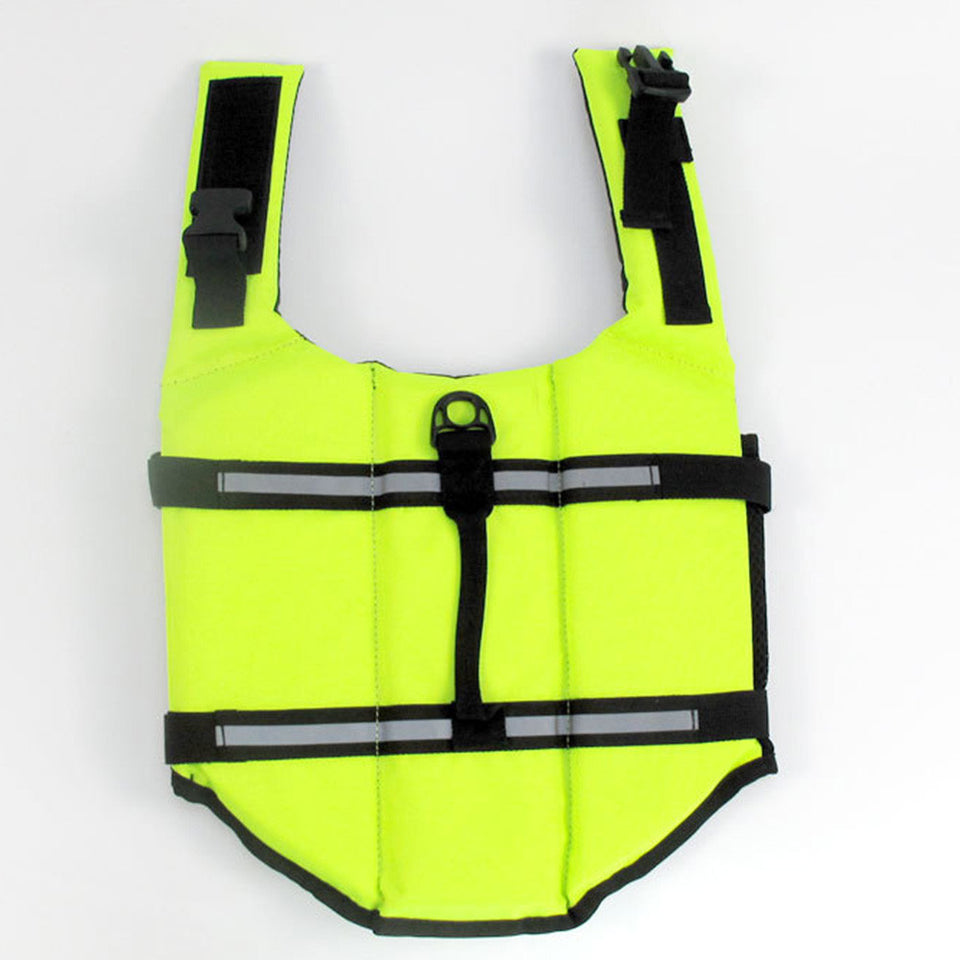 Dog Life Jacket Adjustable Dog Lifesaver Safety Reflective Vest Pet Life