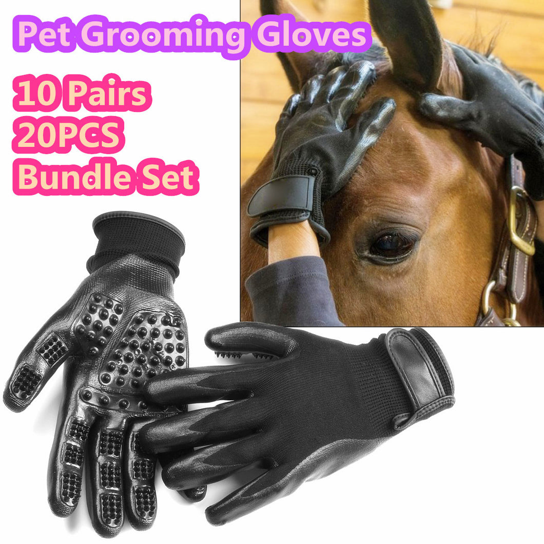 10 Pairs Pet Dog Grooming Hair Remover Shedding Combing