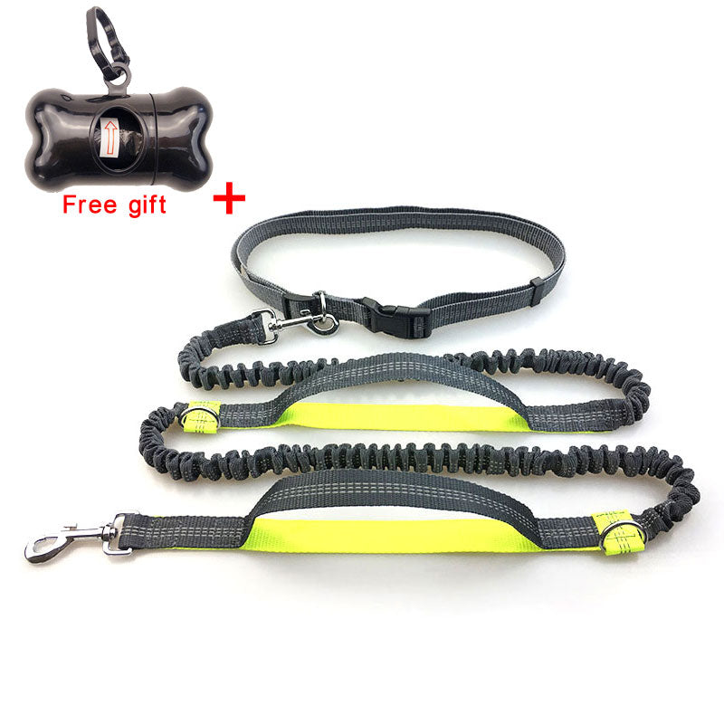 Handsfree Bungee Dog Leash Reflective Safety Running Jogging Great Control nylon leash