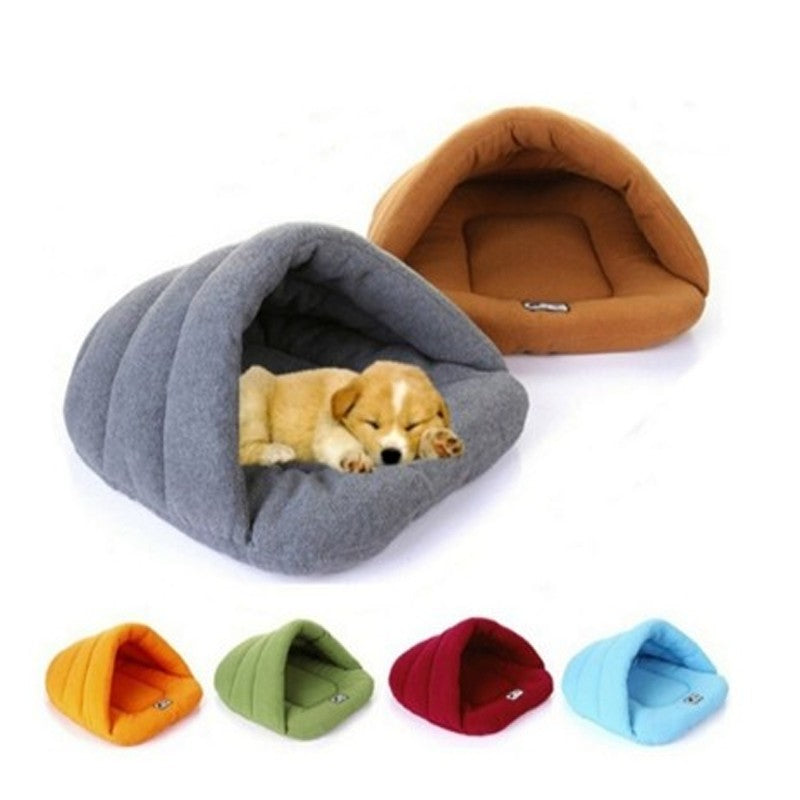 Fleece Warm Soft Winter Pet Sleeping Bag Dog Bed Cat House Nest Bedding