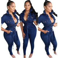 Fashion Casual Sexy Jean Jumpsuit