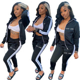 Sporty Long Sleeve Two Piece Outfits