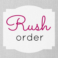 Custom order rush fee