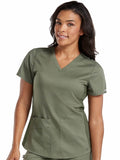 7459 V-NECK SHIRTTAIL TOP (Size: XS-3X)