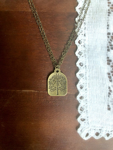 Layered Bronze Tree Psalm 1:3 Necklace & Poem