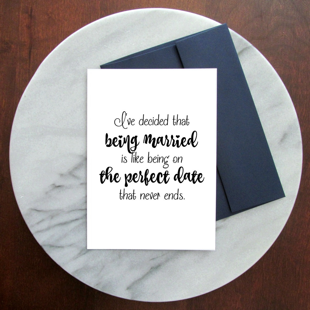 The Perfect Date Greeting Card - Blank Inside