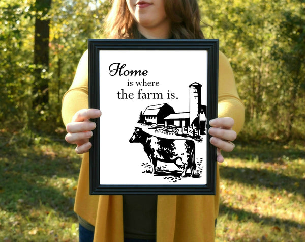 "Home is Where the Farm Is Print | 5x7"" or 8x10"""