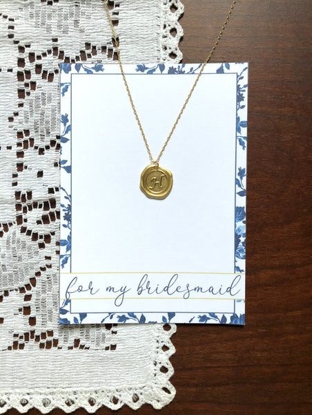 Bridesmaids Initial Custom Necklaces Set