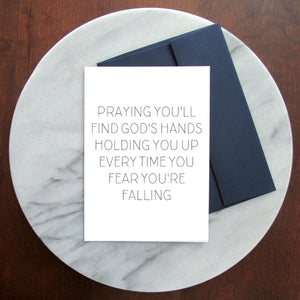 Holding You Up Greeting Card - Blank Inside
