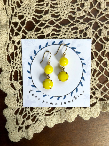 HAVE SOME SUNSHINE Statement Earrings