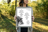 "He Shall Be Like a Tree Psalm 1:3 Poem Print | 5x7"" or 8x10"""