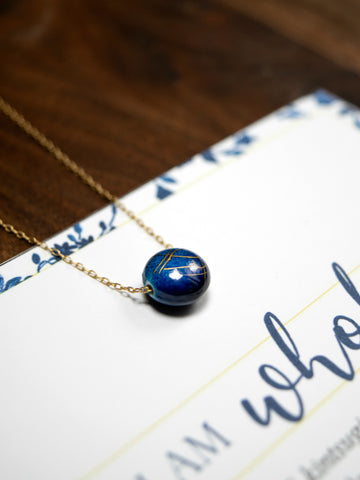 I AM WHOLE Deep Blue Dainty Necklace