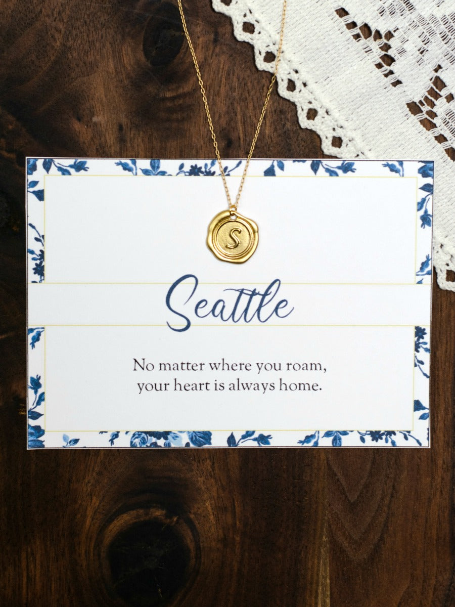 SEATTLE Washington Necklace