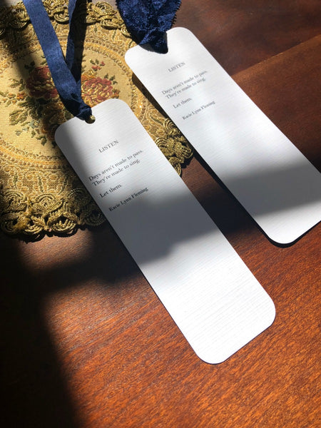 LISTEN Poem Bookmark
