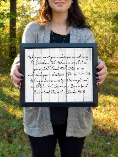 "Rest in This Wood Rustic Print | 5x7"" or 8x10"""