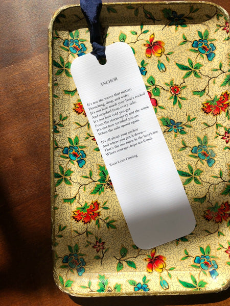 ANCHOR Poem Bookmark