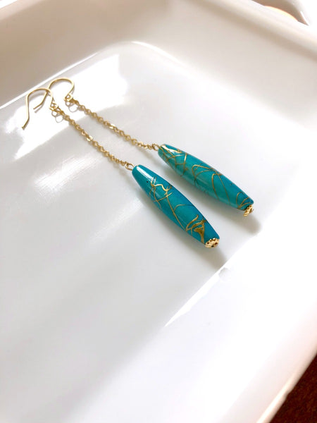 I AM WHOLE Turquoise Drop Earrings