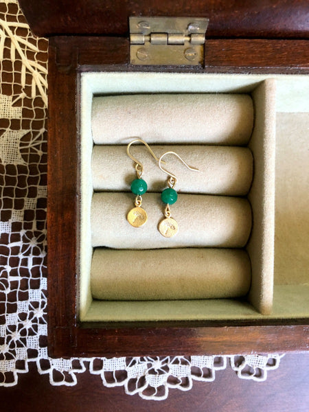 COUNTRY ROADS WV Gold and Green Wildflower Earrings