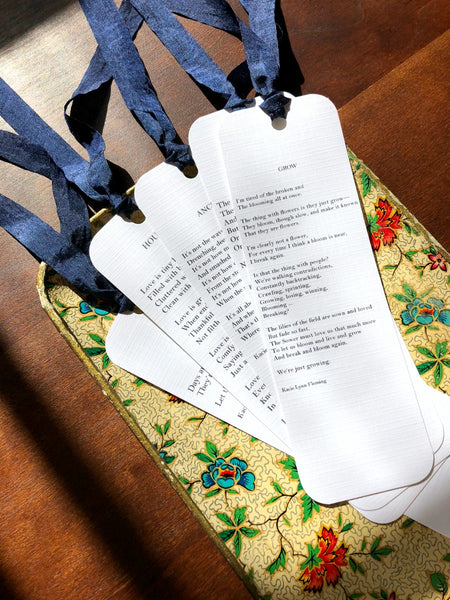 Original Poetry Bookmarks | Set of 5