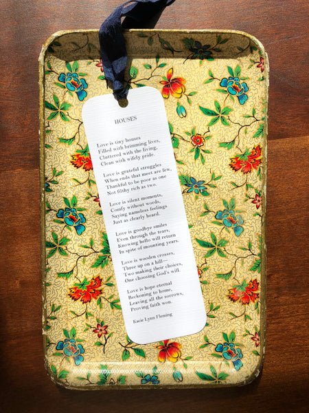HOUSES Poem Bookmark