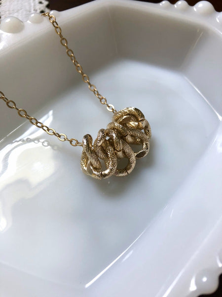 Gold Chunky Pendant Layering Necklace