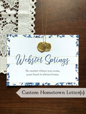 HOMETOWN Custom Initial Necklace - Choose Your Letter(s)