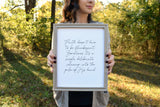 "Faith Encouraging Print | 5x7"" or 8x10"""