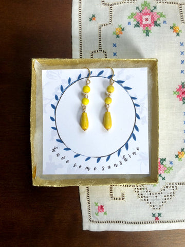 HAVE SOME SUNSHINE Wooden Earrings