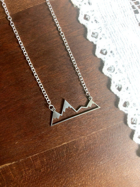 Psalm 121:1-2 Silver Unto the Hills Necklace & Print