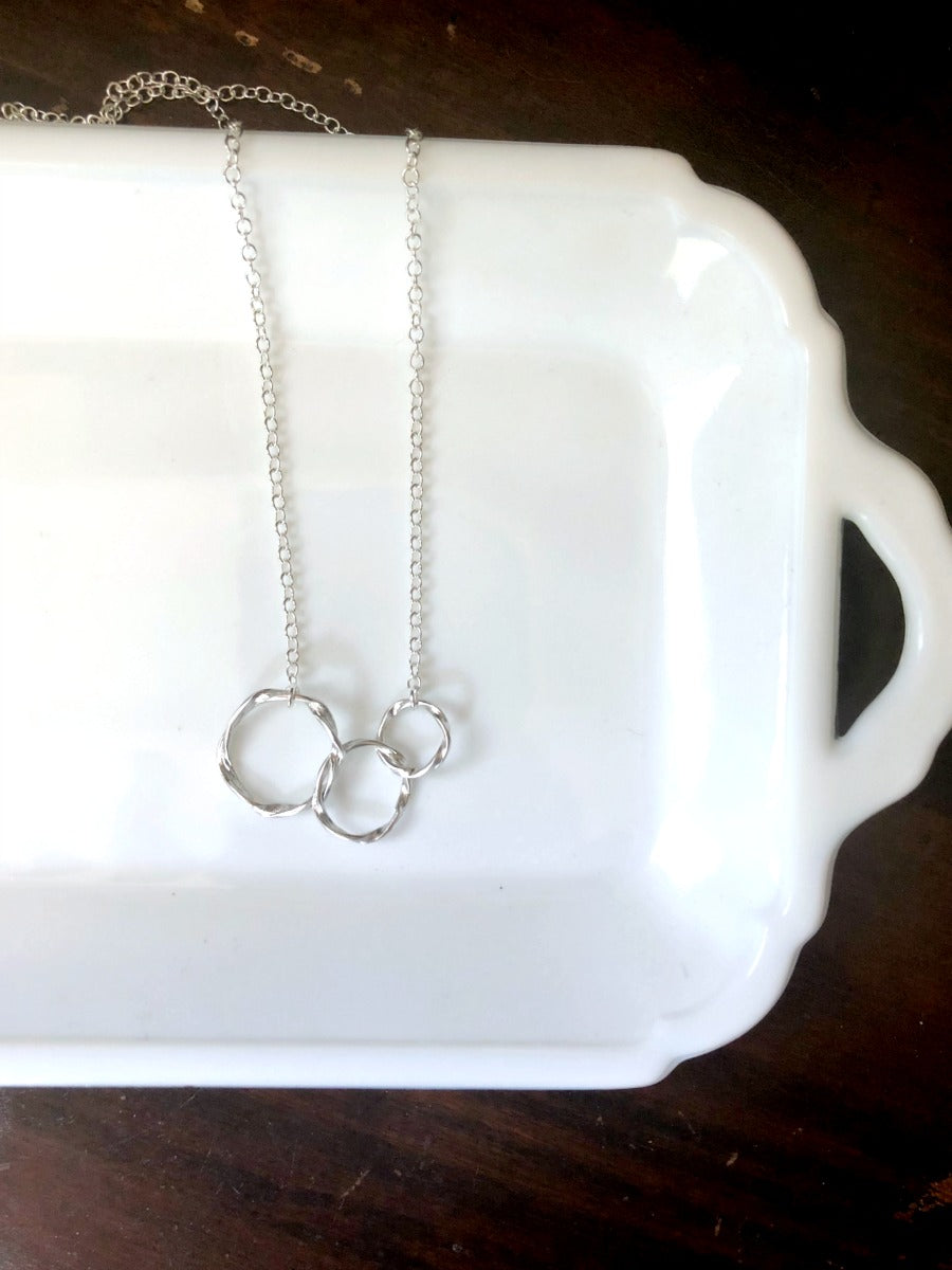 TWO in Silver | The Ennea Collection Necklace