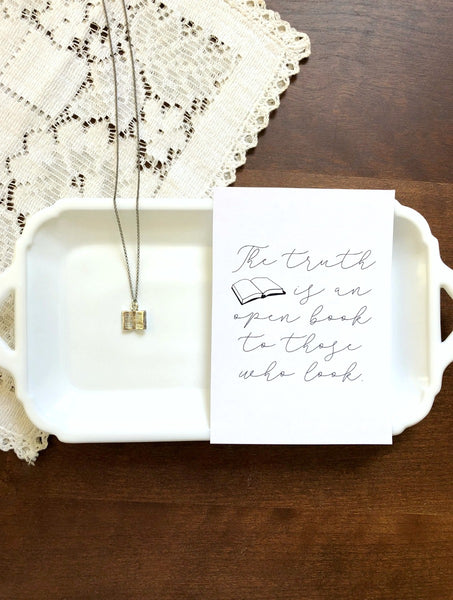 Open Book Necklace & Print