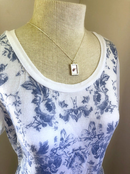 WEST VIRGINIA Rhododendrons Small Silver Necklace