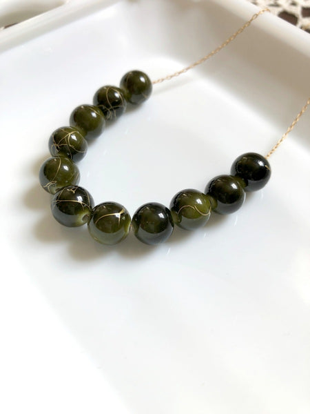 I AM WHOLE Dark Green Statement Necklace