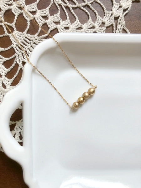I AM WHOLE Dainty Gold Bar Necklace