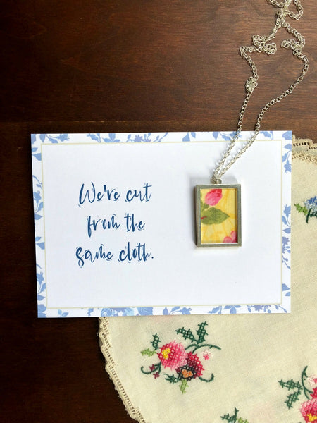 CUT FROM THE SAME CLOTH | Yellow and Pink Floral Necklaces Set